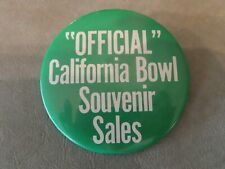 California Bowl Souvenir Sales Collector Button -College Football Bowl Game 1985