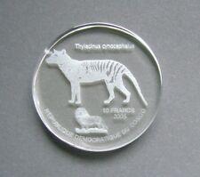 Congo 10 Francs 2005, Tasmanian tiger -Thylacine - Thylacinus cynocephalus