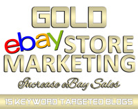 🔥 GOLD eBay Marketing and Custom Blog Design with 15 eBay listings promoted!