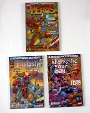 Lot de 3 La renaissance des heros FANTASTIC FOUR et autres Marvel Crossover 1999