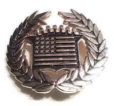 Slightley Used Stars & Stripes Cadillac Metal & Enamel USA Belt Buckle #34