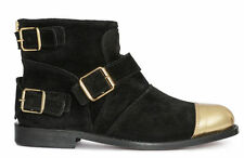 SOLD OUT New Boxed Balmain x H&M Black & Gold suede toe cap boots UK 5 EUR 38
