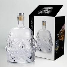Star Wars White Soldier Glass Bottle Bar Clear Storage Drinking Wine Container