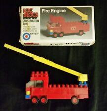 Loc Blocs Construction Toys Fire Engine Truck Entex Industries Vintage LEGO