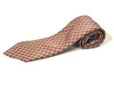 Brioni Mens Necktie Yellow Purple White Floral 100% Silk