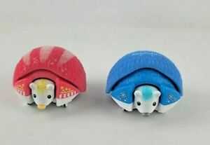 Little Live Pets Pink Blue Hedgehogs Rolls up and Moves