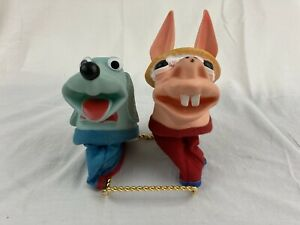 Vintage 1960 Sheri Lewis TV Show Hush Puppy & Charley Horse Hand Sock Puppets