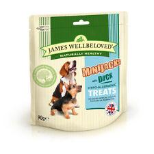 JWB Minijacks Duck 10x 90g Hypoallergenic Dog Training Treats Reward BBE 07/19