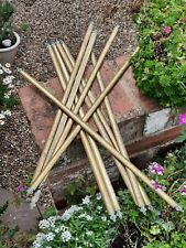 10 solid brass genuine Victorian/Edwardian stair rods - fleur de lis trefoil