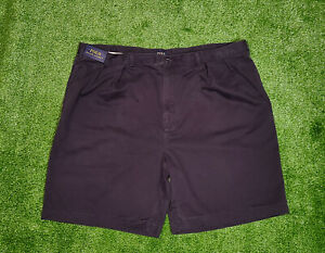 "New POLO RALPH LAUREN Big & Tall Men Size 48B Khaki Flat-Front 9.5"" Shorts $125"