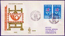 1963 - FDC Venetia - Giornata del Francobollo - Viaggiata raccomandata - n.209It