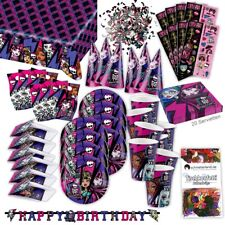 Monster High 2 party set XL 72 piezas para 6 invitados monstruo fiesta decorativas fiesta paquete