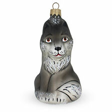 Baby Wolf Mouth Blown Glass Christmas Ornament 5.2 Inches