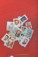 50 USED ALL DIFFERENT STAMPS CELEBRITIES & FAMOUS PEOPLE