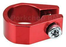 """Old school Tuf Neck style BMX bicycle seat clamp 28.6mm (1 1/8"""") - RED ANODIZED"""