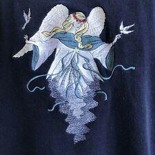 Angel Sweatshirt Sz Xl Great American Lakes Timbers Navy Blue Vintage Doves