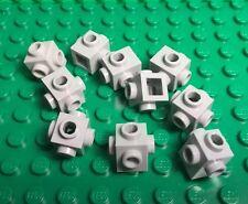 LEGO New Bulk Lot Medium Stone Gray Brick 1x1 with Studs on Four Sides X10 Pc.