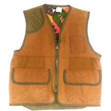 SAFTBAK Vtg Mens L/XL Right Hand Hunting Birding Vest Zip Up Tan Game Pouch