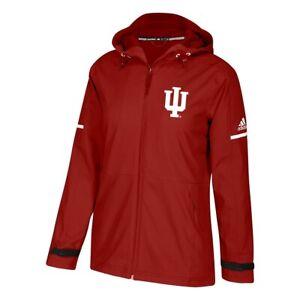 Indiana Hoosiers NCAA Adidas Women's ClimaWarm Red Game Built Rain Jacket