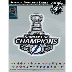 Official 2021 NHL Stanley Cup Final Champions Patch Tampa Bay Lightning Jersey