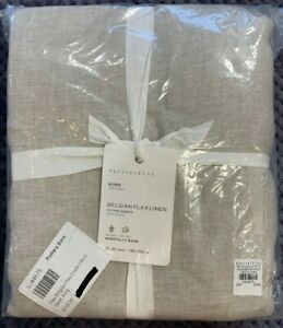 Pottery Barn Flax Belgian Flax Linen Fitted Sheet, King 78x80in, FREE SHIPPING