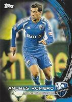 2014 Topps Major League Soccer Base Black Parallel Card - Numbered to just /10
