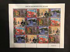 1999年 澳門回顧 郵票 Macau retrospective stamp full pane