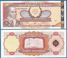 Haiti 20 Gourdes 2001 P 271A New issue (2014) UNC Low Shipping! Combine FREE!