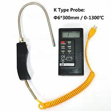 Digital K Type ℃/℉ Fire Concrete Liquid Thermometer TES-1310 & -50~1300℃ Probe-C
