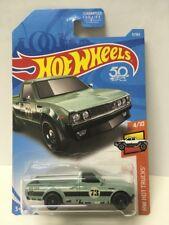 DATSUN 620 pick up truck #9 USA 50✰Green; 73✰HOT TRUCKS✰2018 Hot Wheels Case B