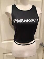 Women's Black Athletic Gym Crop Tank EUC