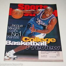 JACQUE VAUGHN - Sports Illustrated SI Magazine - Kansas Jayhawks - 11-27-1995