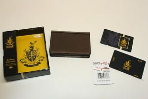 Buxton 62957BR Brown Business Credit ID Card Case Holder Leather NIB