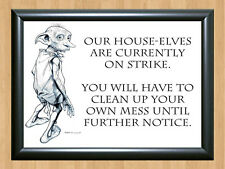 Dobby House Elf Harry Potter Font Must Have For All Fans Poster A4 Photo Print