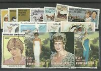 """Lot timbres thematique """" Diana"""""""