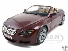 BMW M6 CONVERTIBLE BURGUNDY 1:18 DIECAST MODEL CAR BY MAISTO 31145