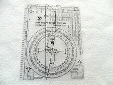 Idf Military Issue Infantry Field Navigation Protractor Z ZAHAL MARK New. Israel