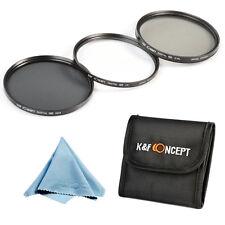 77mm UV CPL ND4 Polarizer Lens Filter Kit for Canon Rebel T4i T3i KF Concept