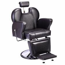 Black Professional Swivel Hydraulic Barber Chair Beauty Salon Equipment Recline