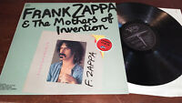 FRANK ZAPPA & THE MOTHERS OF INVENTION - TRANSPARENCY - VERVE UK 1975 VINYL LP