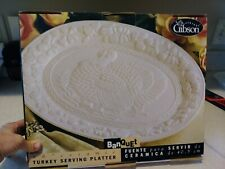 "**NEW** Everyday Gibson Banquet 16"" Ceramic Turkey Serving Platter"