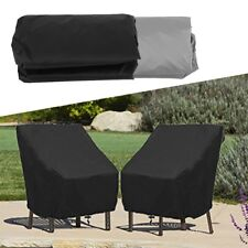 Waterproof Patio Cushions Single High Back Covers Outdoor Furniture Protection