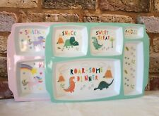 Childrens Meal Portion Tray. Serving Size Plate. Kids Unicorn or Dinosaur gift