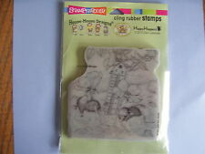 HOUSE MOUSE RUBBER STAMPS CLING STAYING COOL NEW cling STAMP