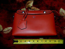 $1,580 FENDI Red Bauletto Mini Senza Tramezza Clutch Bag Leather Made In ITALY
