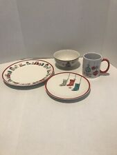 American Atelier Holiday Christmas Stoneware 4 piece place setting New