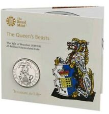 The Queen's Beast of Yale Of Beaufort Clarence £5 BU Coin 2019