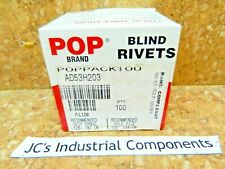 "Pop Rivets  blind  grip range 1/8"" - 3/16""  dia.  5/32""  aluminum body  100 pcs"