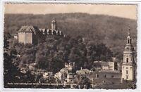 Ansichtskarte Greiz - Blick auf Oberes Schloss und Stadtkirche - schwarz/weiß