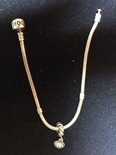 Authentic Genuine Pandora EVIL EYE dangle Charm With Genuine Pandora Bracelet